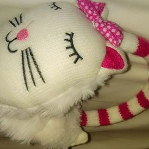 GENUINE HELLO KITTY EAR MUFFS WHITE AND PINK